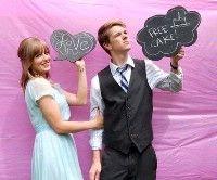 Photobooth Idea - Add a little FUN - NICKIM's Purple Wedding by Color Blog