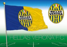 Hellas Verona FC flag and coat of arms, Italy