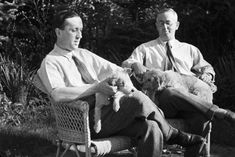 Karel and Josef Čapek with their dogs My Hero, Writer, Couple Photos, Paper, Dogs, Literature, Quotes, Czech Republic, Sign Writer