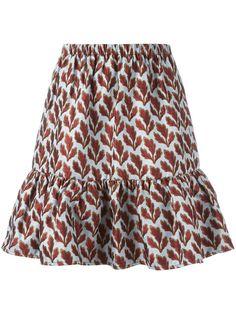 PHILOSOPHY DI LORENZO SERAFINI Leaf Jacquard Skirt. #philosophydilorenzoserafini #cloth #skirt