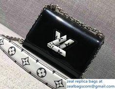 Louis Vuitton Monogram Vernis Twist PM Bag M54243 Black 2017