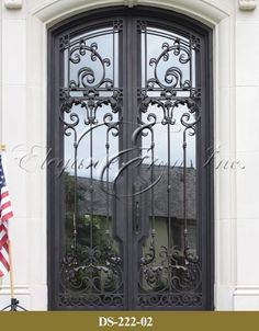 View Wrought Iron Entry Doors Wine Railings