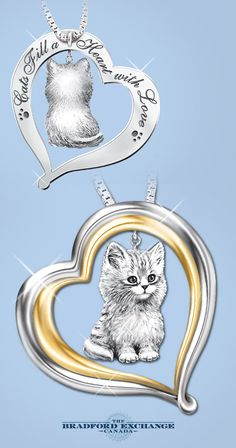 Keep your purr-fect companion close to your heart for always with this adorable sterling silver cat pendant necklace.