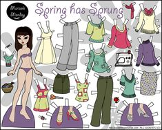 Spring has Sprung: Asian Printable Paper Doll Paper Toys, Paper Crafts, Paper Dolls Printable, Making Excuses, Altering Clothes, Son Luna, Spring Has Sprung, How To Make Paper, Diy Crafts For Kids