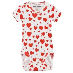 White and Heart Print Body
