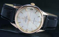 1961s Vintage OMEGA Constellation 551 Automatic Date Gold Cap Steel Mens Watch 1200 EURO