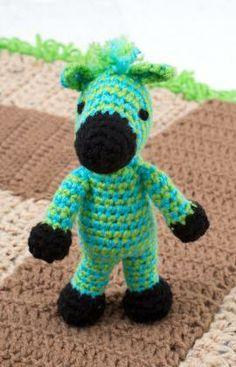 Zippy Zebra Free Crochet Pattern from Red Heart Yarns