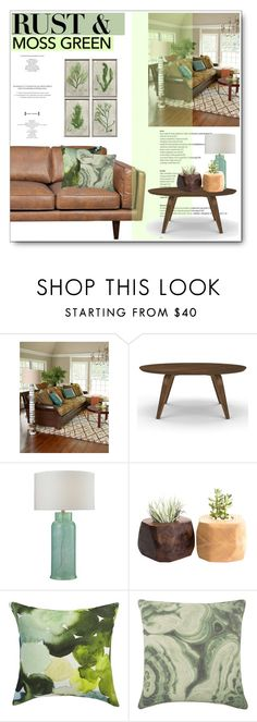 """Rust & moss"" by hevsyblue2 ❤ liked on Polyvore featuring interior, interiors, interior design, home, home decor, interior decorating, Massoud, CB2, Thomaspaul and colorchallenge"
