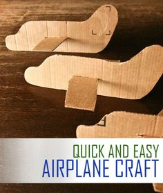 This quick and easy cardboard airplane craft is perfect when you need a fun project idea in a pinch! Your kids will love making these and flying them around for hours!