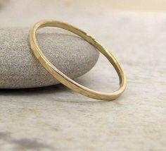 Thin Wedding Ring Gold Wedding Band Solid 14k by GoldSmack on Etsy