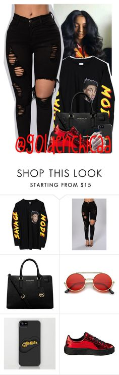 """Follow me "" by g0ldenchicaa ❤ liked on Polyvore featuring MICHAEL Michael Kors, ZeroUV and Puma"