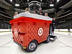 Target Big Red Basket Zamboni. Love this!! @Allan Peters art director  Jon Baugh  , creative director  Jason Langer, executive creative director  Andy Thieman  , writer  Target, design firm/client #commarts