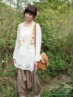 """mori (literally means """"forest"""") is a japanese style that involves many layers of handmade and organic looking clothing to create a woodsy natural look"""
