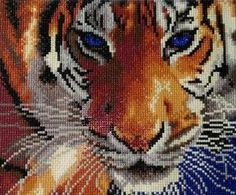 5d Diamond Pictures Cat Reflection Turned Into Tiger Diamond Particles Cross Stitch Diy Full Diamond Wall Picture #sw Pure White And Translucent Home & Garden