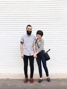 New Darlings - Couple Style - Nisolo Shoes Hipster Couple, New Darlings, Estilo Preppy, Stylish Couple, Hipster Fashion, Travel Fashion, Fashion Fall, Engagement Outfits, Couple Outfits