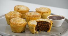 For real Australian flavour, add Vegemite to these mini beef pies. They're the perfect size for family entertaining. Beef Pies, Mince Pies, Pecan Pies, Flaky Pastry, Shortcrust Pastry, Savory Pastry, Savory Muffins, Savoury Pies, Savoury Recipes