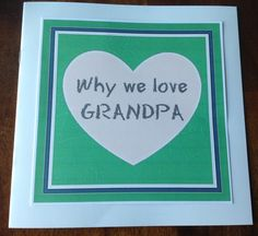 """Father's Day gift idea for Grandpa - Have the kids write a """"why we love grandpa"""" book. Free printable of the cover image."""