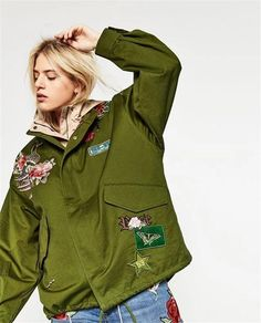 b94052e8eb5 Army Jacket Embroidery Military with patches
