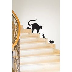 WallPops Black Cat Wall Art Kit - DWPK2241