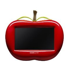 "This red 7"" Hannspree Apple Digital Picture Frame would look great in my office as it is red and matches my TV."