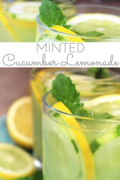 Mint Infused Cucumber Lemonade is a refreshing cold, all natural drink on a hot day. Sweet lemonade combines with fresh cucumber juice and muddled mint and is delicious iced! Refreshing cold sip for a hot summer's day. Cucumber Lemonade, Fresh Squeezed Lemonade, Mint Lemonade, Cucumber Juice, Meal Prep For Beginners, Fun Drinks, Beverages, Sweet Tarts, Lemon Water