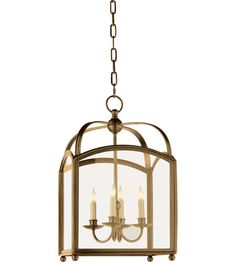 Visual Comfort E.F. Chapman Arch Top 4 Light Foyer Pendant in Antique-Burnished Brass CHC3421AB photo