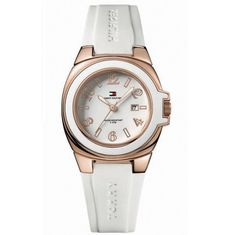 Women's Wrist Watches - Tommy Hilfiger Riverside White Silicone White Dial Womens Watch 1780915 >>> Check out this great product.