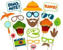 Printable Dinosaur Photo Booth Props - Dinosaur Photobooth Props - Dinosaur Birthday Party - Printable Dinosaur Party - Jurassic World Props