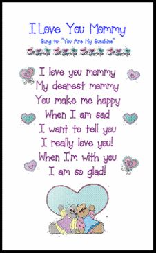 """I Love You Mommy"" Poem for Mother's Day Tea or ""Moms and Muffins"" Celebration"