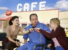 Stars of the CTV series Corner Gas, from left, Gabrielle Miller, Brent Butt and Nancy Robertson