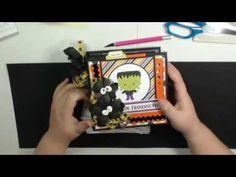 September Craftology 6 x 6 Mini Tutorial Mini Photo Books, Mini Photo Albums, Mini Books, Mini Albums, Flip Books, Mini Scrapbook Albums, Scrapbook Cards, Scrapbooking, Halloween Design
