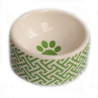 $37 green trellis dog bowl from www.BitchNewYork.com (@Joanne Daus Dimeff)