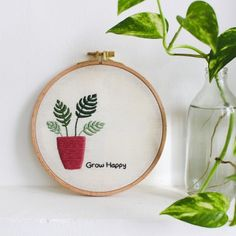 Herb Embroidery Patterns Felted Veggies Cling To Embroidery Hoops Veselka Bulkan Colossal. Herb Embroidery Patterns Potted Plant Embroidery Project An. Herb Embroidery, Cactus Embroidery, Paper Embroidery, Japanese Embroidery, Embroidery Patterns Free, Embroidery For Beginners, Cross Stitch Embroidery, Embroidery Designs, Embroidery Hoops