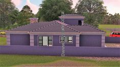 4 Bedroom House Plan - My Building Plans South Africa Round House Plans, House Plans With Photos, My House Plans, My Building, Building Plans, 5 Bedroom House Plans, House Construction Plan, Open Plan Kitchen, My Dream Home