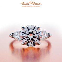 three stone engagement ring pear side stone - Google Search