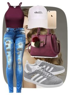 """love!"" by anna-bigsis ❤ liked on Polyvore featuring adidas Originals"