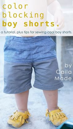 Color-blocked Boy Shorts // a tutorial and tips for sewing cool boy shorts // by CailaMade