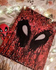 A little drip of Deadpool  #artpics #art #artistsoninstagram #artist #arttherapy #maximumeffort #deadpool #marvel #comics #painting #paint #acrylicpainting #acrylic #orignal #chimichanga #instagramartist #newartist