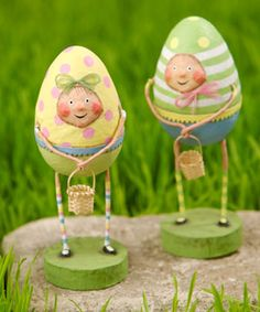 "Cute little Easter Egg dolls.  Would be great art on ""EGG"" GOURDS!"
