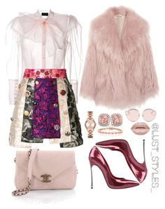 """""""Untitled #232"""" by smackthatash on Polyvore featuring Miu Miu, Chanel, Simone Rocha, Dolce&Gabbana, Casadei, N°21, Michael Kors, Allurez and Bling Jewelry"""