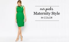 Maternity Style in Color - our favorite colorful maternity styles | Project Nursery