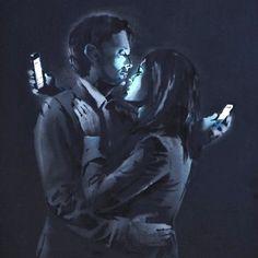 Banksy Street Art - technology take over