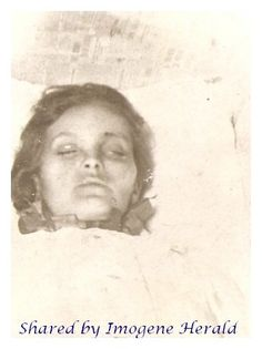 last image of a young mother, died in the age of 21 in childbirth.