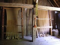 Looms at the West Stow Anglo-Saxon Village. Photo by Lindsay Kerr