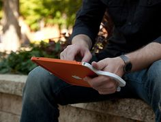 Besides to carry your iPad you can also use this great Apple gadget to easily write and use your iPad.