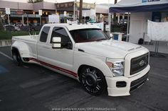 Slammed Ford Super Duty at #SEMA 2012