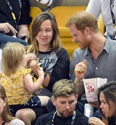 Prince Harry ended up sharing his popcorn on Wednesday evening!