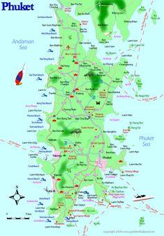 thailand phuket   Phuket, Thailand Travel Map
