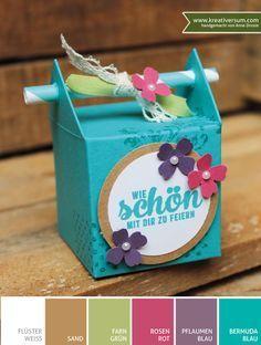 Kreativ durcheinander #18 – Verpackung | Kreativersum, Stampin Up, Strohhalmbox, Gastgeschenk, Goodie, Hochzeit, Best Day Ever, Challenge, Wedding