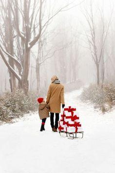 scène de Noël blanc